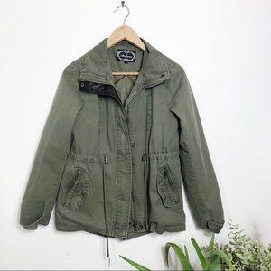 Ambiance army green utility jacket